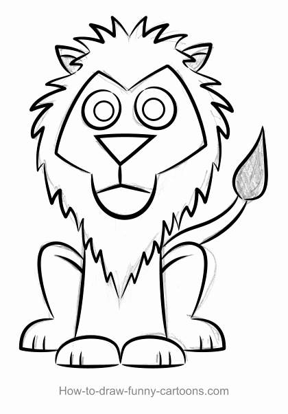 Lion Drawing Easy
