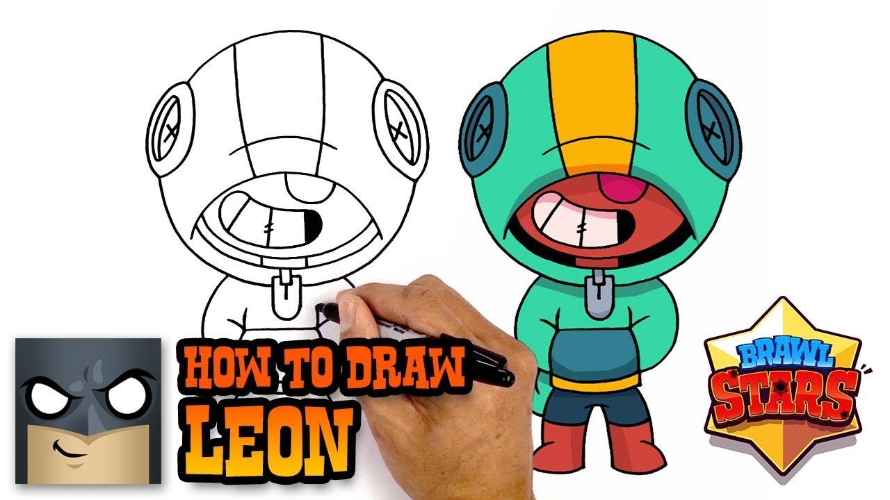 1280x720 How To Draw Leon Brawl Stars Awesome Step