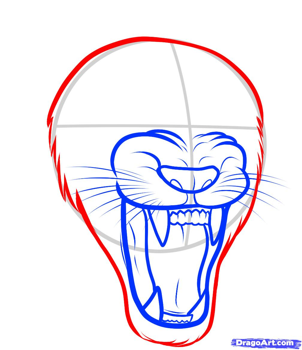 1008x1168 How To Draw A Lion Roaring, Roaring Lion, Step