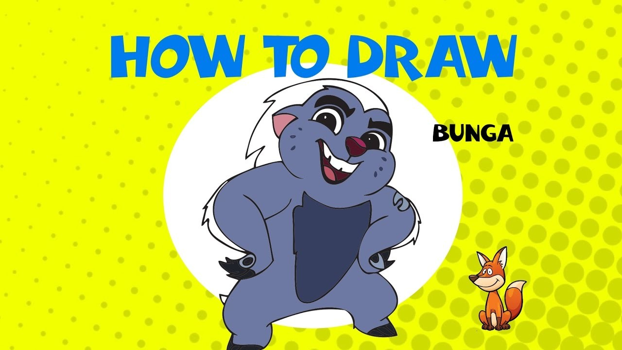 1280x720 How To Draw Bunga From Lion Guard