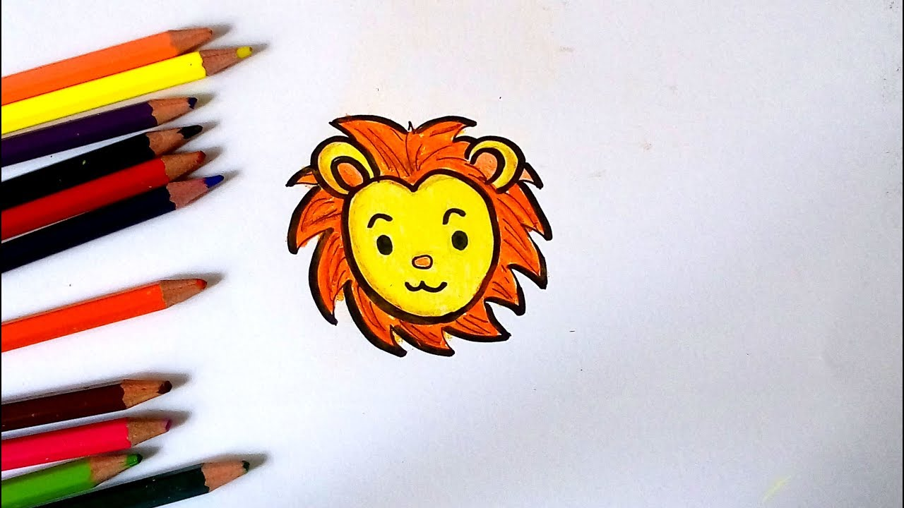 1280x720 How To Draw A Cute Lion For Kid Easy Drawing Tutorial