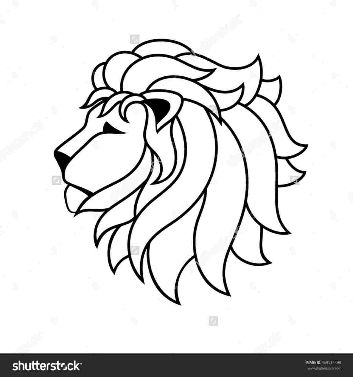 1185x1264 Simple Lion Cartoon Drawing
