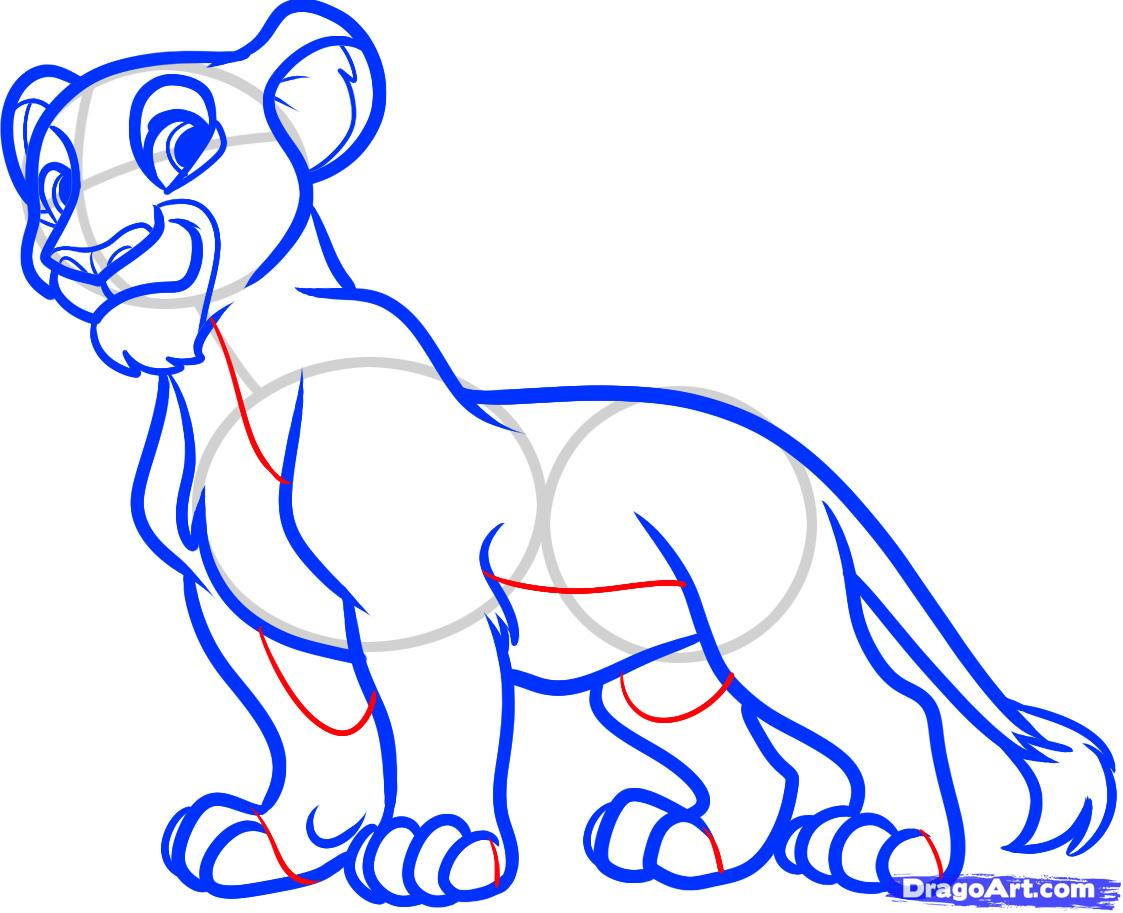 1123x913 Step How To Draw Nala From The Lion King