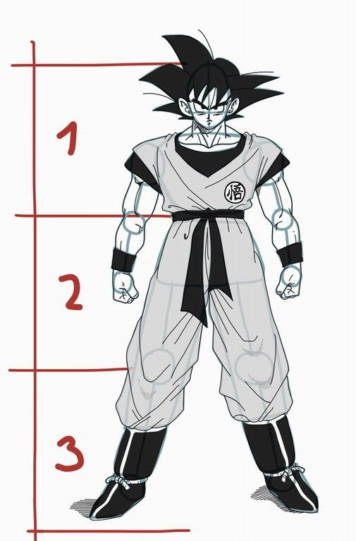505x768 Drawing Goku From Dragon Ball Z Tutorial Projects To Try