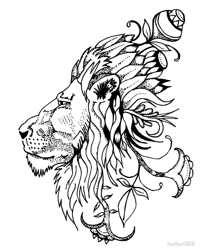 Lion Drawing Wallpaper