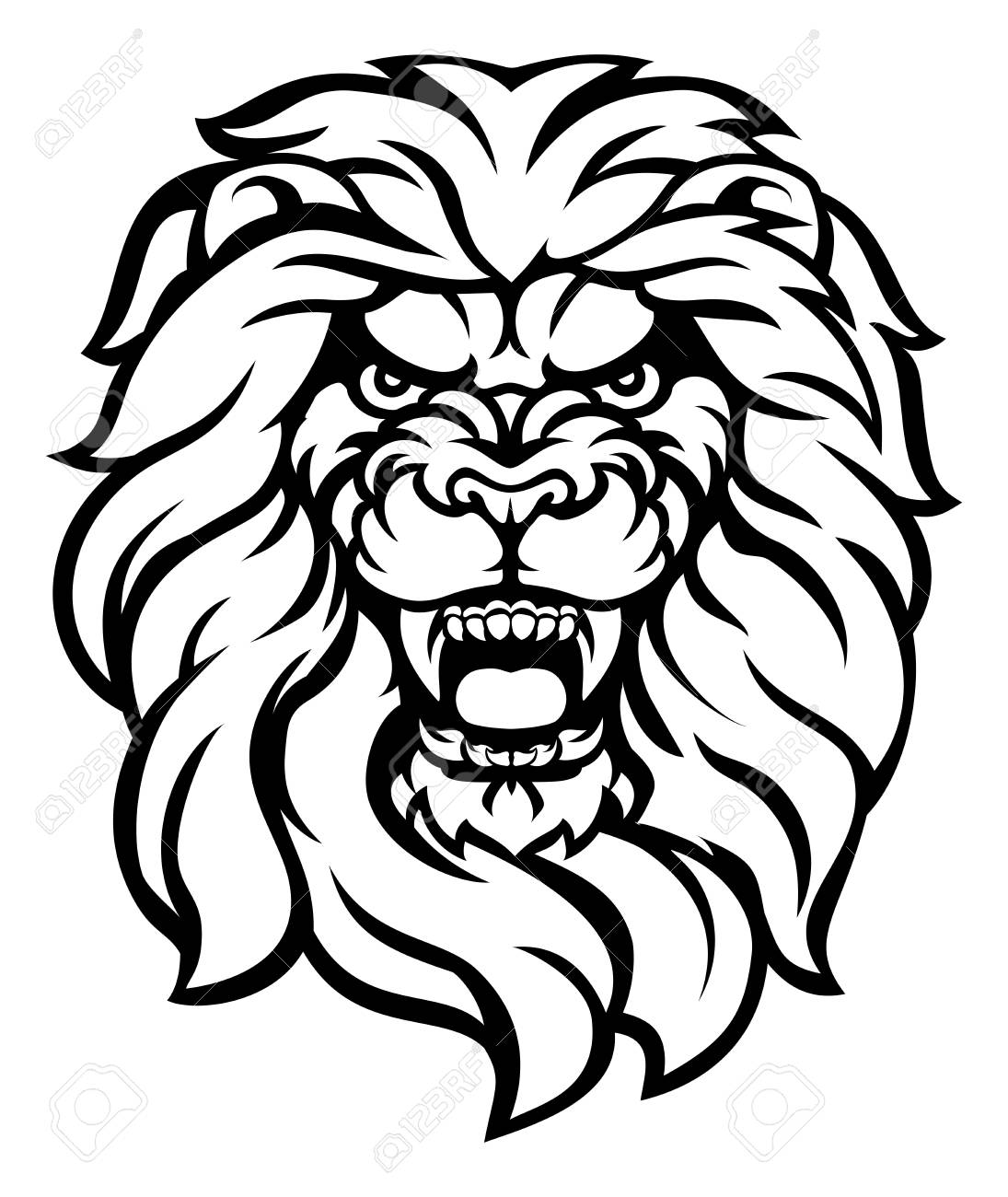 Lion Face Outline Drawing | Free download on ClipArtMag