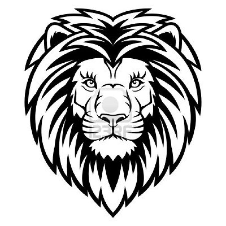 Lion Face Outline Drawing Free Download On Clipartmag Vector drawings sketches different predator , tigers lions cheetahs and leopards are drawn in ink by hand , objects with no background. clip art mag