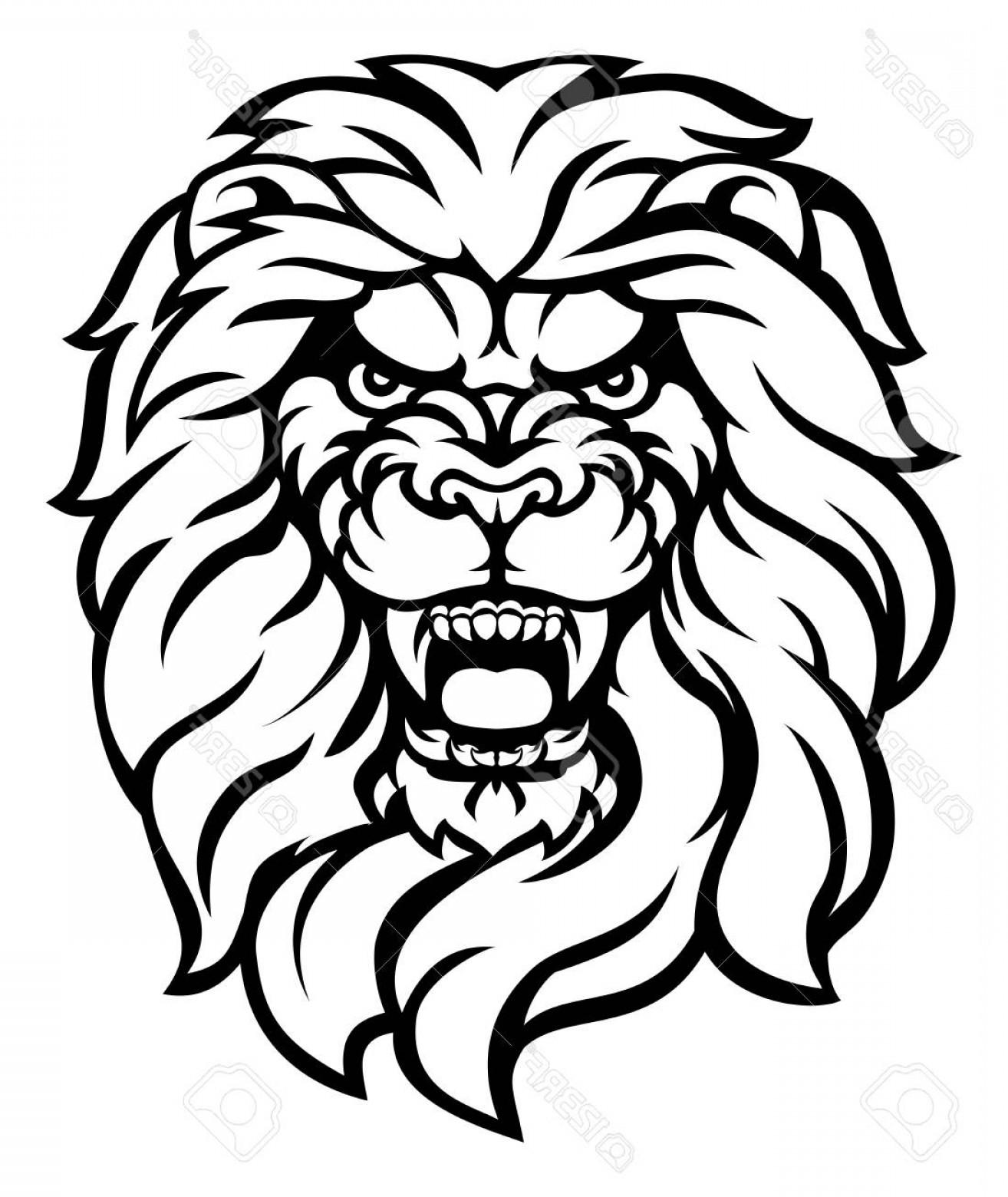 Lion Face Outline Drawing Free Download On Clipartmag Learn how to draw lion face outline pictures using these outlines or print just for coloring. clip art mag