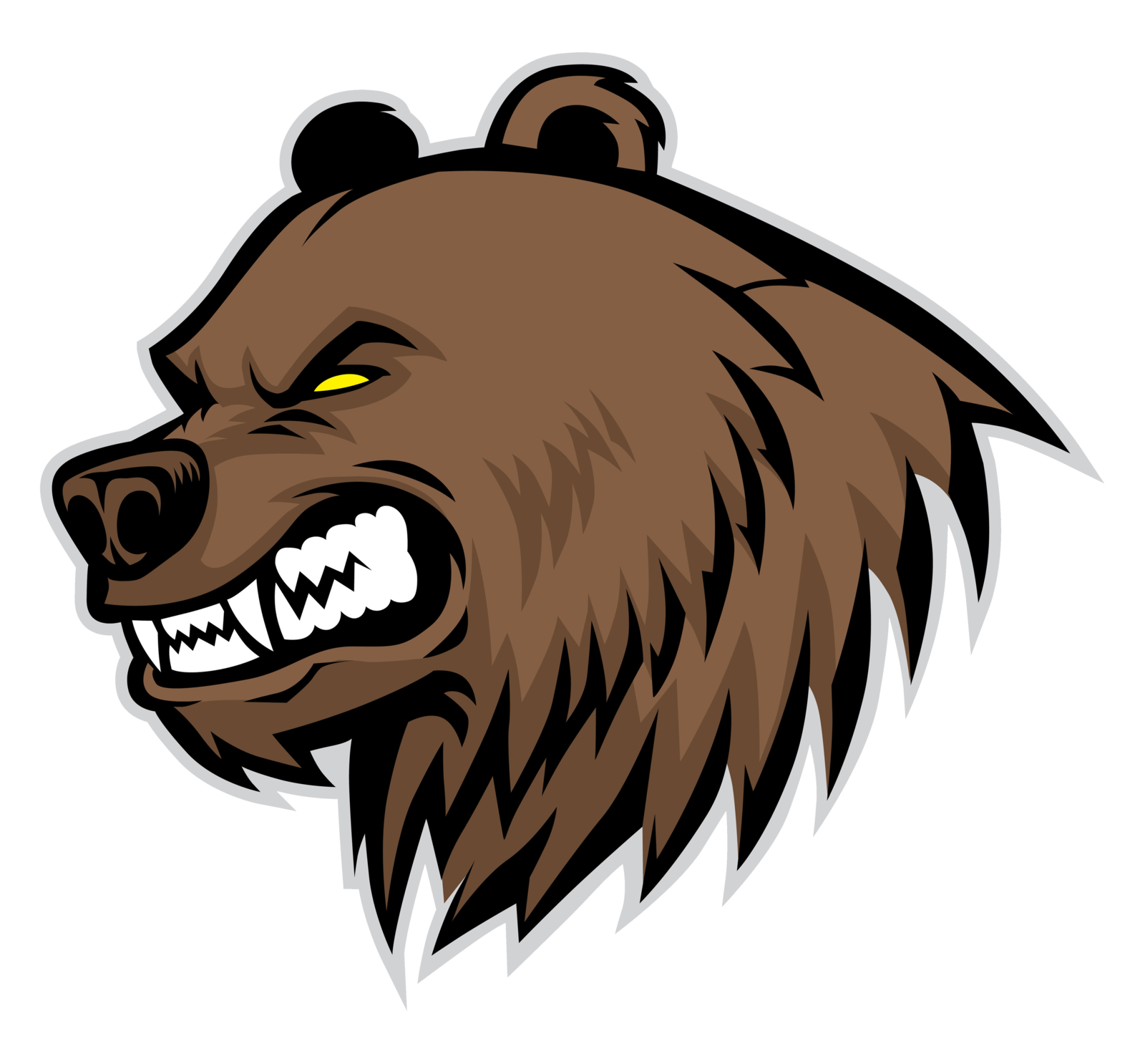 1600x1486 Grizzly Drawing Bear Roar Transparent Png Clipart Free Download