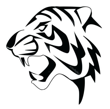 425x420 How To Draw A Tiger Face How To Draw A Cute Tiger Face Step