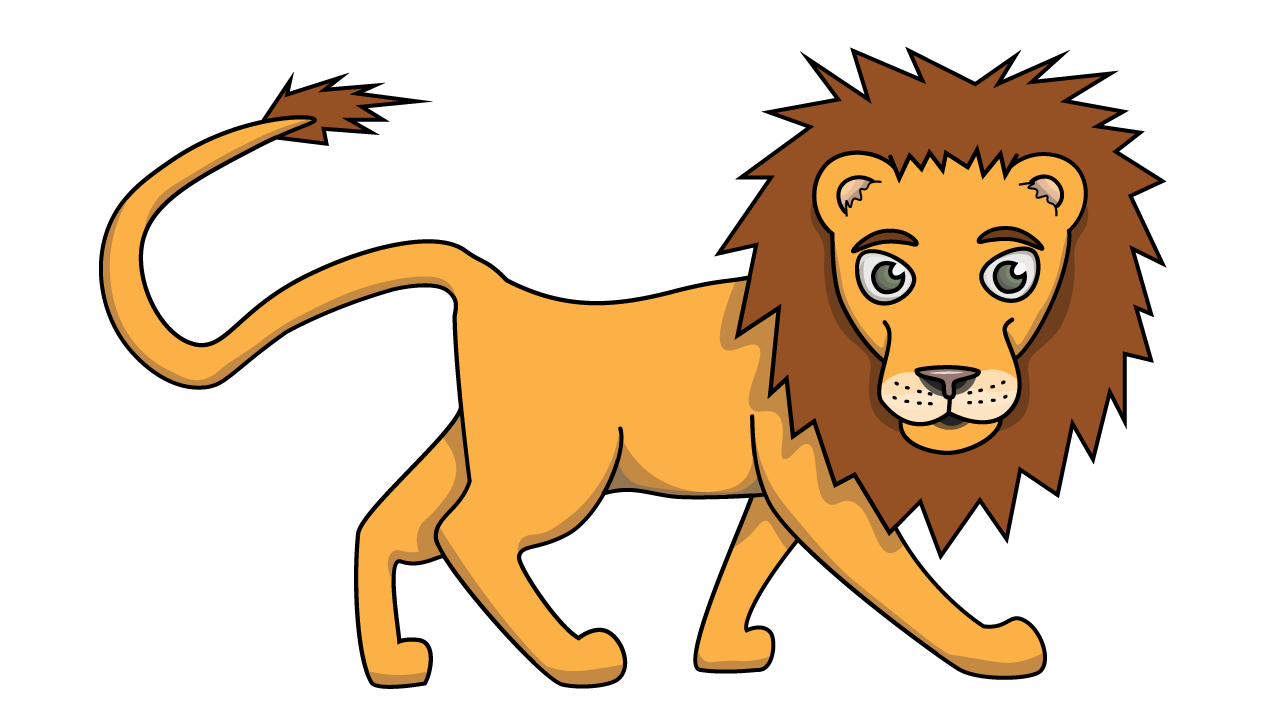 1280x720 Huge Collection Of 'lion Drawing Simple' Download More Than