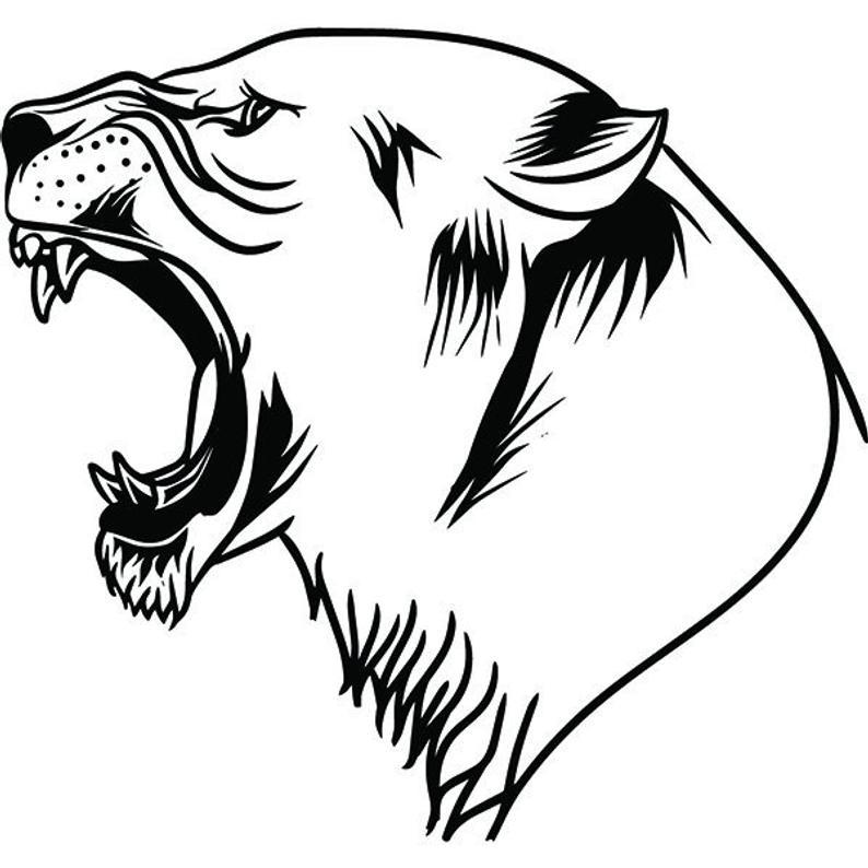 794x794 Lion Wild Animal Growling Angry Mascot Head Face Cartoon Etsy