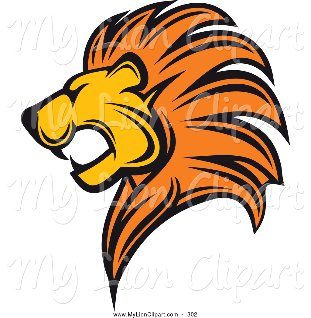 1024x1044 Lion Roaring Front View Clipart