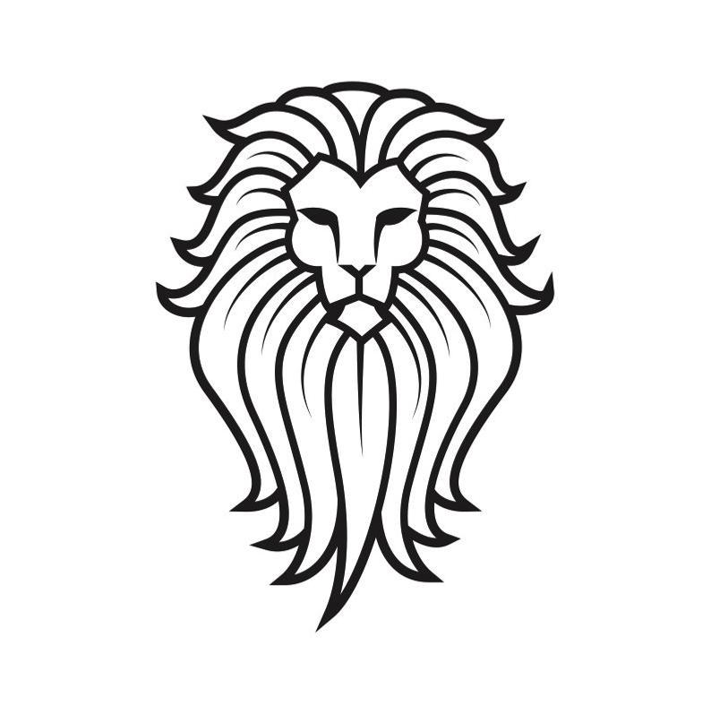 794x797 Lion Logo Head Mascot Head Face Wild Animal Growling Etsy
