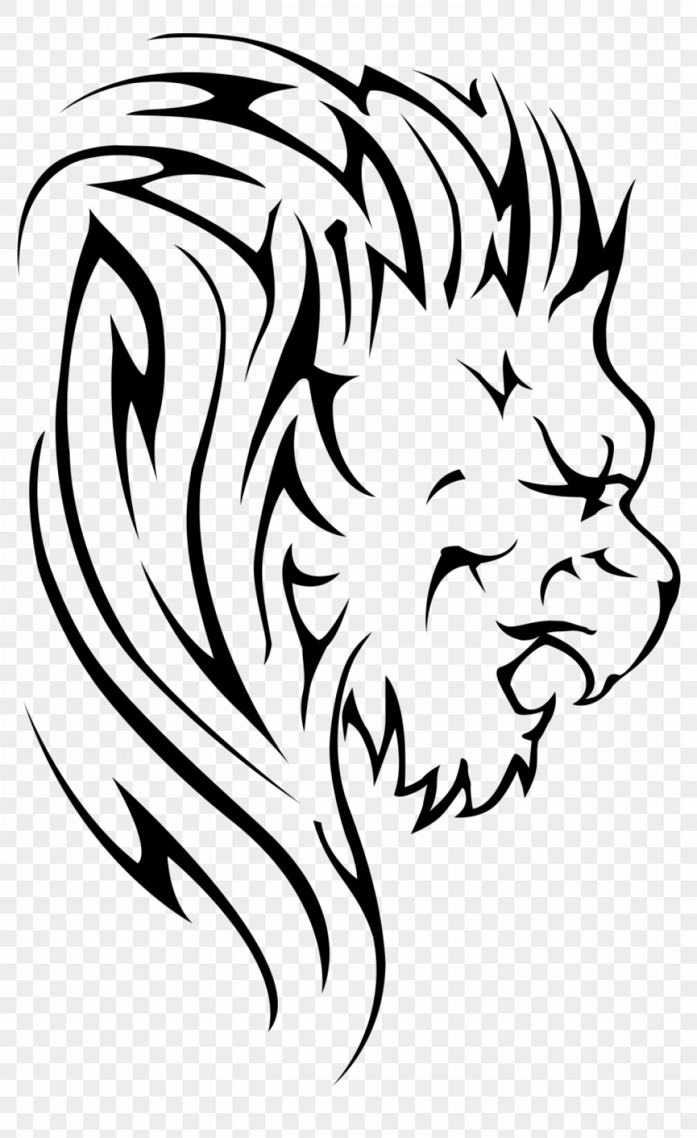 1008x1644 Migkkgzzroaring Lion Clipart Buy Clip Art Lion Vector Transparent