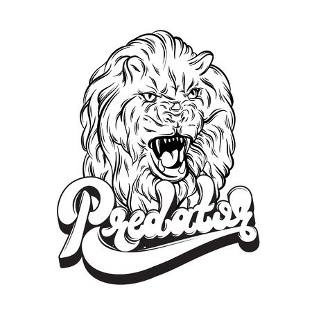 450x450 Growling Lion Vector Illustration Royalty Free Vector Graphics