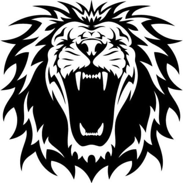 640x640 lion head silhouette lovely lion head silhouette beautiful