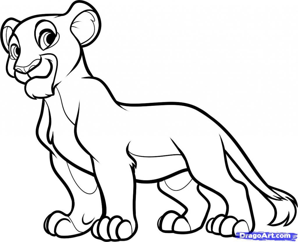 1024x833 How To Draw Nala From The Lion King, Stepstep, Disney Clip Art