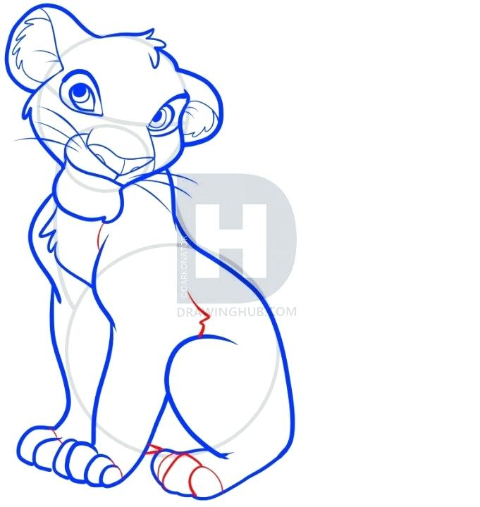 681x720 How To Draw Simba From Lion King How To Draw Adult Step How