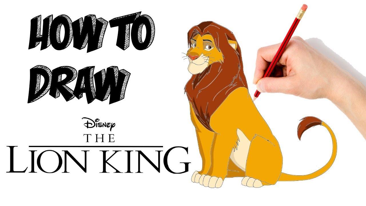 1280x720 How To Draw Simba The Lion King Cartooning Kids