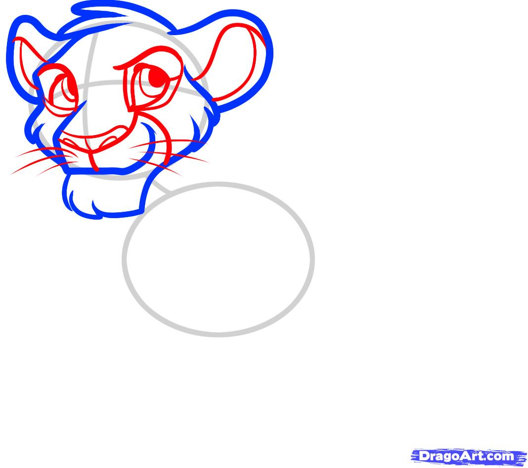1068x946 How To Draw Simba From The Lion King, Step