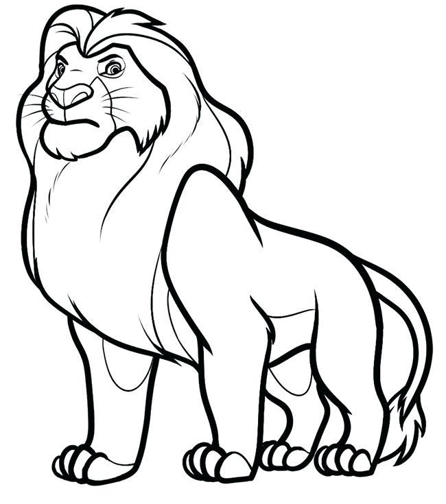 650x735 draw lion king lion template hyenas draw lion king