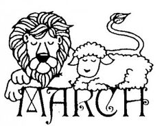 Lion Lamb Drawing