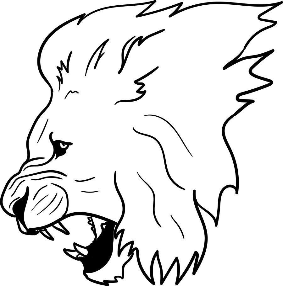 Lion Outline Drawing | Free download on ClipArtMag