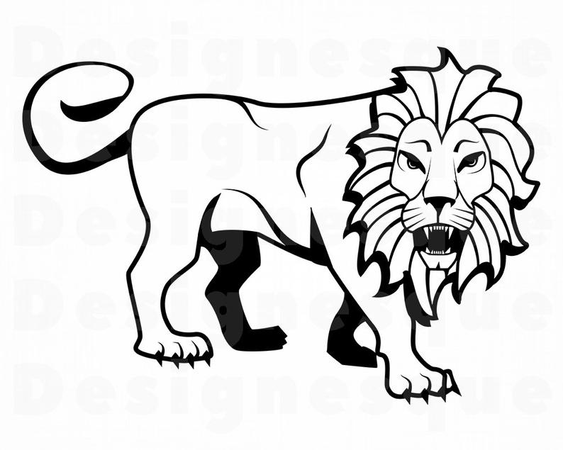 794x635 lion lion outline lion clipart lion for etsy