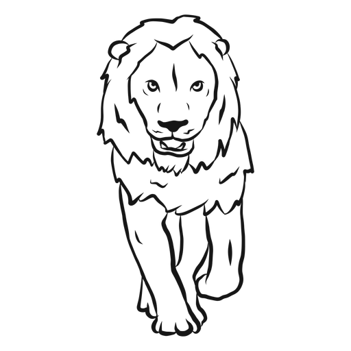 512x512 Lion Drawing Download Free Clipart With A Transparent Background