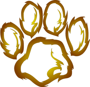299x288 Lions Paw Print Clip Art Ghent Elem Lion Drawing, Lion Paw