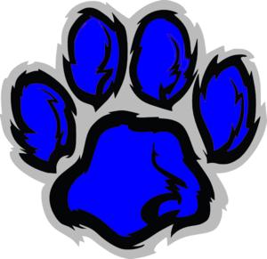 300x291 Blue Lion Paw Clip Art