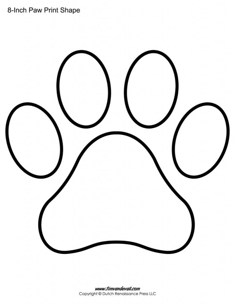 791x1024 Printable Coloring Pages For Kids Paw Print Coloring