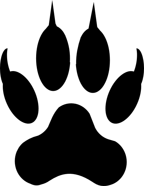 462x594 Lion Footprint Lion Footprint Clip Art
