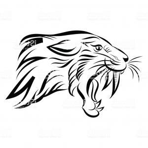 300x300 Head Lion Open Mouth Teeth Drawing Soidergi