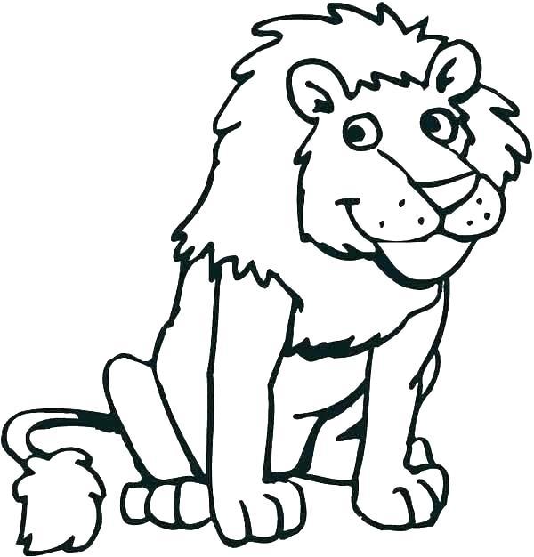 600x626 Lion Face Coloring