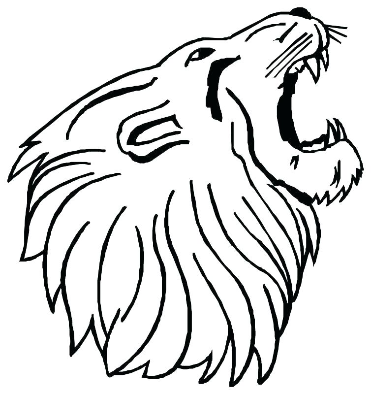 754x800 Coloring Pages Lions