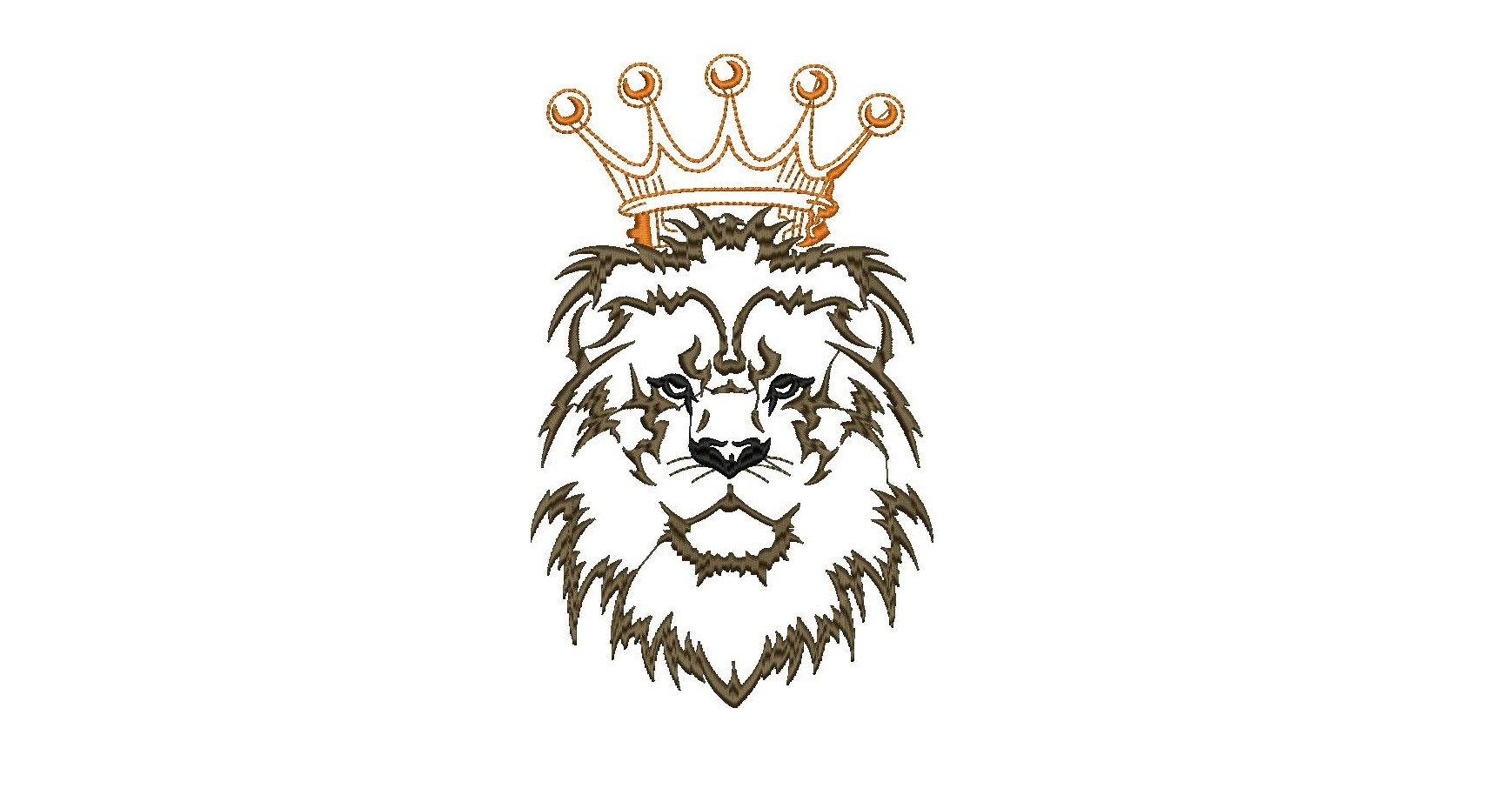 1738x914 lion with crown embroidery design free download digitizing