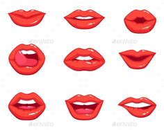 Lips Drawing Cartoon