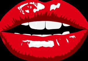 Lips Kissing Drawing