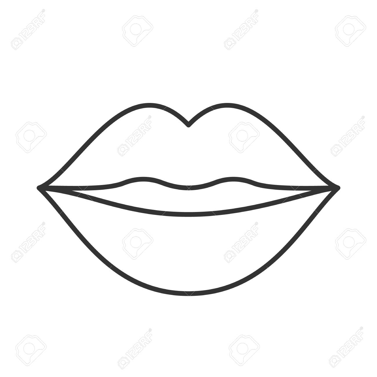 1300x1300 Outline Drawing Lip For Free Download