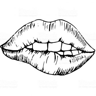 336x336 Lip Drawing Techniques Color Reference Of Biting Boy Tutorial