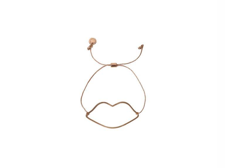 768x576 Lucia Lips Outline Adjustable Bracelet Rose Gold Majic