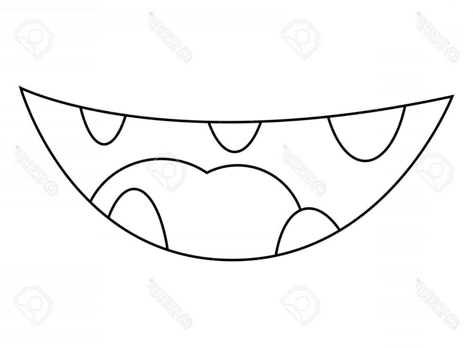 1560x1148 Photostock Vector Cartoon Smile Mouth Lips With Teeth Vector