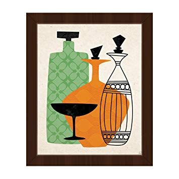 355x355 retro glass green and orange mid century retro modern