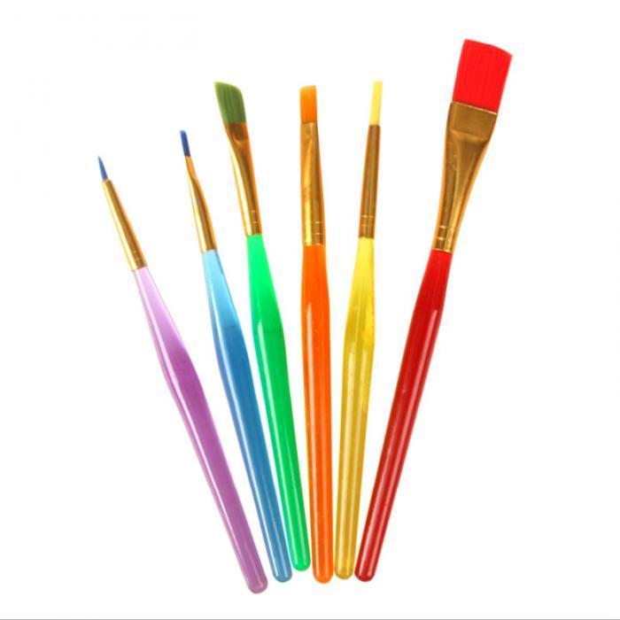 700x700 nylon handle paint brush set for kids watercolor gouache