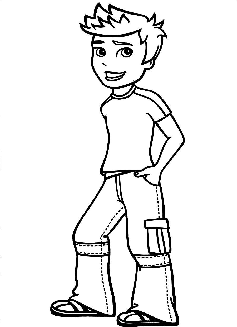 900x1240 Drawing Little Boy Coloring Pages For Free