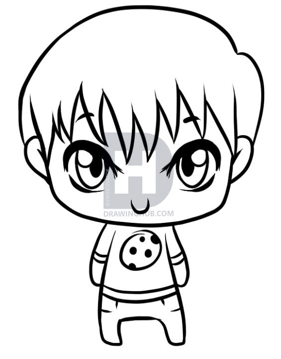 565x720 How To Draw A Little Boy, Step