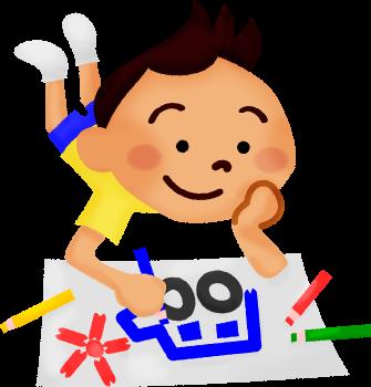 335x350 Little Boy Drawing Clipart