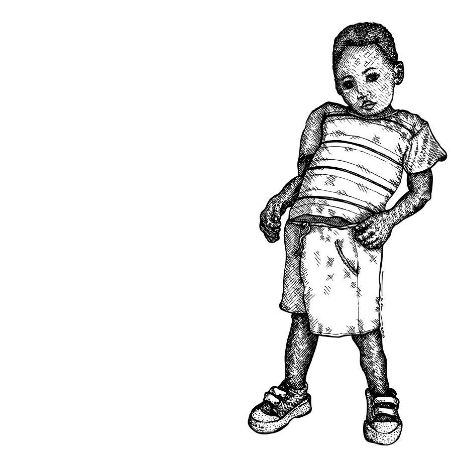 900x900 Little Boy Drawing